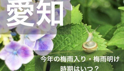 愛知県(東海地方)2019年の梅雨入りと梅雨明け宣言はいつ?平年の時期や傾向も!