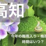 高知県(四国地方)2021年の梅雨入りと梅雨明け宣言はいつ?例年の時期や傾向も!