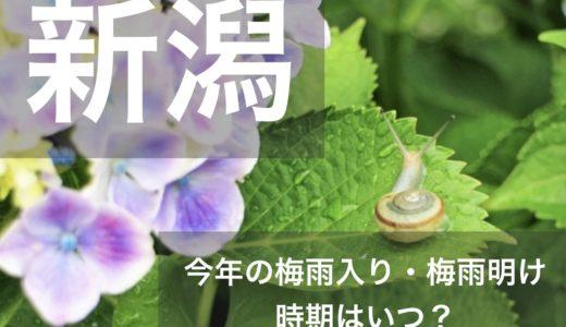新潟県(北陸地方)2020年の梅雨入りと梅雨明け宣言はいつ?平年の時期や傾向も!