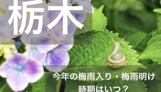 栃木県(関東地方)2019年の梅雨入りと梅雨明け宣言はいつ?平年の時期や傾向も!